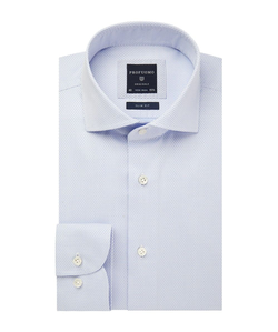 Profuomo Blauw Dobby Overhemd