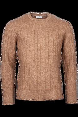 Thomas Maine Pullover Kabel Bruin