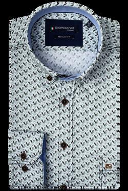 Giordano Overhemd Vogel Print Groen