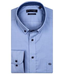 Giordano Overhemd Lichtblauw Buttondown