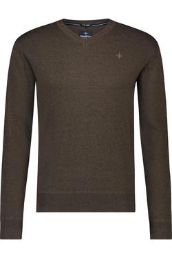 Haze & Finn Melange V-neck Pullover