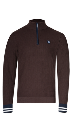 Blue Industry Pullover Ritssluiting Rood