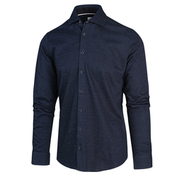 Blue Industry Basic Overhemd Blauw