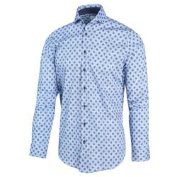 Blue Industry Bollenprint Overhemd Blauw