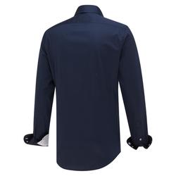 Blue Industry Dress-shirt Donkerblauw