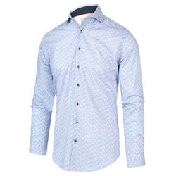 Blue Industry Overhemd Met Blauwe...