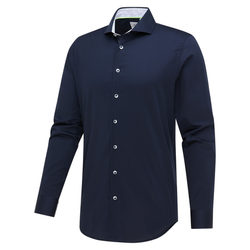 Blue Industry Donkerblauw Dress Shirt