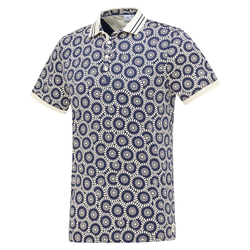 Blue Industry Polo Met Bloemen Print