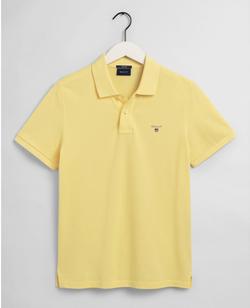 Gantoriginal Pique Poloshirt Geel