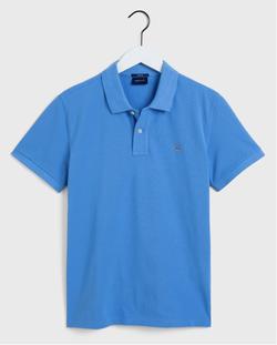 Gantoriginal Pique Poloshirt Blauw