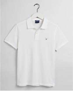 Gantoriginal Pique Poloshirt Wit