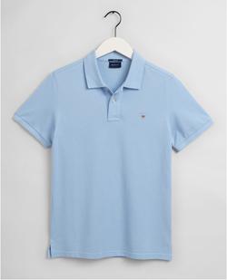 Gantoriginal Pique Poloshirt Lichtblauw