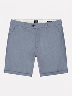 Dstrezzed Fonda Shorts Dobby Check Blauw