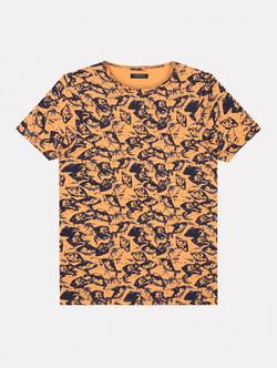 Dstrezzed T-shirt Met Zee Print Oranje