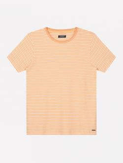 Dstrezzed T-shirt Met Streep Oranje