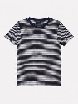 Dstrezzed T-shirt Met Streep Donkerblauw