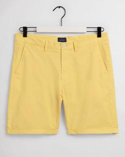 Gantregular Fit Sunfaded Shorts Geel